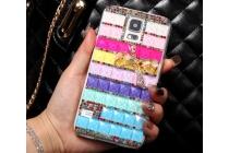 Фирменная роскошная элитная пластиковая задняя панель-накладка украшенная стразами кристалликами и декорированная элементами для Samsung Galaxy S5 SM-G900H/G900F радужная