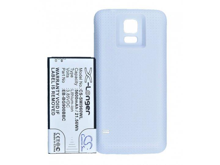 Усиленная батарея-аккумулятор большой повышенной ёмкости 5600mAh для телефона Samsung Galaxy S5 /S5 Duos SM-G9..