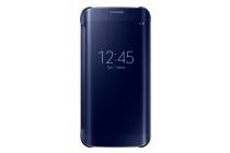 """Чехол-книжка с дизайном """"Clear View Cover""""  для Samsung Galaxy S6 Edge черный"""