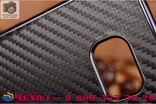 """Задняя панель-крышка из тончайшего и прочного пластика для Samsung Galaxy S6 Edge с матовой отделкой """"под карбон"""" черная"""