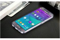 Фирменная роскошная элитная премиальная задняя панель-крышка на металлической основе обтянутая импортной кожей для Samsung Galaxy S6 королевский розовый