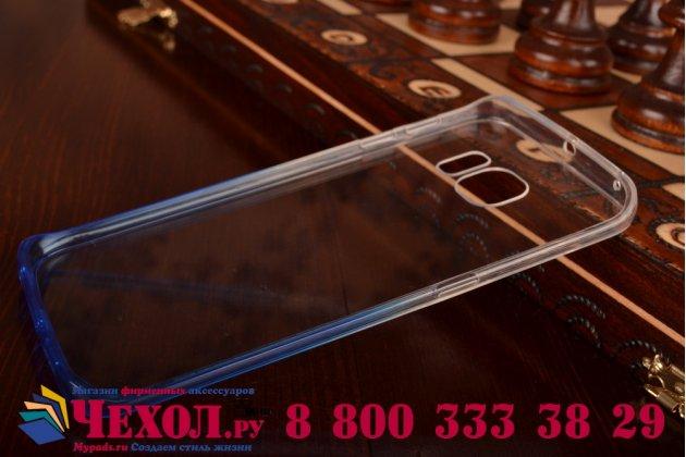 Фирменная из тонкого и лёгкого пластика задняя панель-чехол-накладка для Samsung Galaxy S6 Edge прозрачная с эффектом дождя