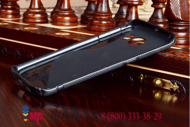 Фирменная ультра-тонкая полимерная мягкая задняя панель-чехол-накладка для Samsung Galaxy S6 Edge черная