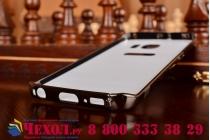 Фирменная металлическая задняя панель-крышка-накладка из тончайшего облегченного авиационного алюминия для Samsung Galaxy S6 Edge черная