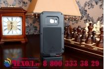 Неубиваемый водостойкий противоударный  грязестойкий влагозащитный ударопрочный фирменный чехол-бампер для Samsung Galaxy S6 Edge SM-G925F цельно-металлический