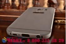 Фирменная металлическая задняя панель-крышка-накладка из тончайшего облегченного авиационного алюминия для Samsung Galaxy S6 серебристая