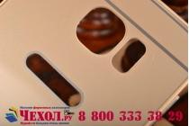 Фирменная металлическая задняя панель-крышка-накладка из тончайшего облегченного авиационного алюминия для Samsung Galaxy S6 золотая