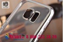 Фирменная ультра-тонкая полимерная из мягкого качественного силикона задняя панель-чехол-накладка для Samsung Galaxy S6 прозрачная