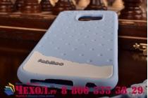 """Фирменная необычная уникальная полимерная мягкая задняя панель-чехол-накладка для Samsung Galaxy S6 """"тематика Андроид в черничном шоколаде"""""""