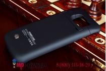 Чехол-бампер со встроенной усиленной мощной батарей-аккумулятором большой повышенной расширенной ёмкости 4200mAh для Samsung Galaxy S6 SM-G925F (именно на него) + гарантия