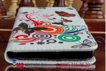"""Фирменный уникальный необычный чехол-книжка для Samsung Galaxy S6 """"тематика радужные Бабочки"""""""