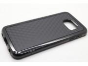 Фирменная задняя панель-крышка-накладка из силикона для Samsung Galaxy S6 SM-G920F черная..