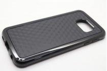 Фирменная задняя панель-крышка-накладка из силикона для Samsung Galaxy S6 SM-G920F черная