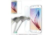 Фирменное защитное закалённое противоударное стекло премиум-класса из качественного японского материала с олеофобным покрытием для Samsung Galaxy S6