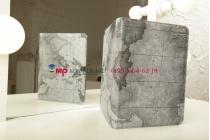 "Чехол для Samsung Galaxy Tab 3 10.1 GT-P5200/P5210 ""тематика карта мира"" кожаный серый"