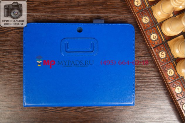 """Чехол-сумка для Samsung Galaxy Tab 3 10.1 """"насыщенный"""" синий кожаный"""