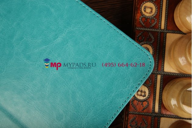 Чехол-обложка для Samsung Galaxy Tab 3 10.1 GT-P5200/P5210 бирюзовый кожаный