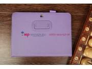 Чехол-обложка для Samsung Galaxy Tab 3 10.1 P5200 с визитницей и держателем для руки фиолетовый натуральная ко..