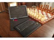 Фирменный со съёмной Bluetooth-клавиатурой для Samsung Galaxy Tab 3 10.1 GT-P5200/P5210 черный кожаный + гаран..