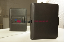 Фирменный со съёмной Bluetooth-клавиатурой для Samsung Galaxy Tab 3 10.1 GT-P5200/P5210 черный кожаный + гарантия