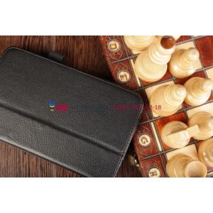 Чехол-обложка для Samsung Galaxy Tab 3 7.0 P3200 черный кожаный