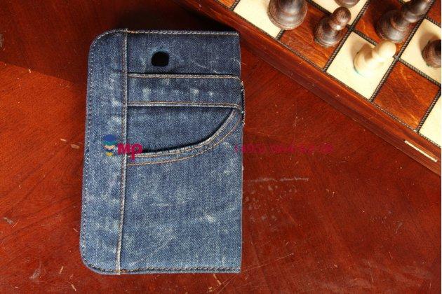 Чехол для Samsung Galaxy Tab 3 7.0 SM-T210/T211 джинсовый синий