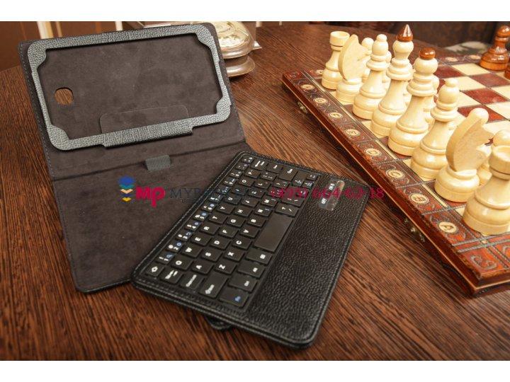 Фирменный оригинальный чехол со съёмной Bluetooth-клавиатурой для Samsung Galaxy Tab 3 7.0 SM-T210/T211 черный..
