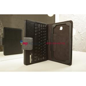 Фирменный оригинальный чехол со съёмной Bluetooth-клавиатурой для Samsung Galaxy Tab 3 7.0 SM-T210/T211 черный кожаный + гарантия