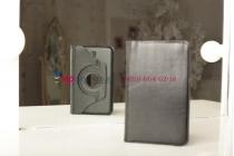 Чехол для Samsung Galaxy Tab 3 7.0 T2100/T2110 поворотный роторный оборотный черный кожаный
