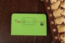 """Чехол-обложка для Samsung Galaxy Tab 3 7.0 T210/T211 зеленый натуральная кожа 'Prestige"""" Италия"""
