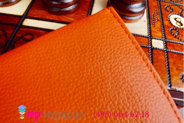 Чехол для Samsung Galaxy tab 3 8.0 SM T310/T311/T315 поворотный роторный оборотный оранжевый кожаный
