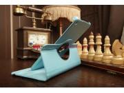 Чехол для Samsung Galaxy Tab 3 8.0 T310/T311 роторный оборотный поворотный бирюзовый кожаный..