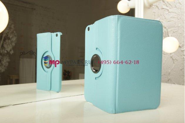 Чехол для Samsung Galaxy Tab 3 8.0 T310/T311 роторный оборотный поворотный бирюзовый кожаный