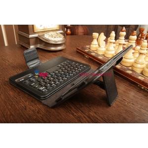 Фирменный чехол со съёмной Bluetooth-клавиатурой для Samsung Galaxy Tab 3 8.0 SM-T310/T311 черный кожаный + гарантия