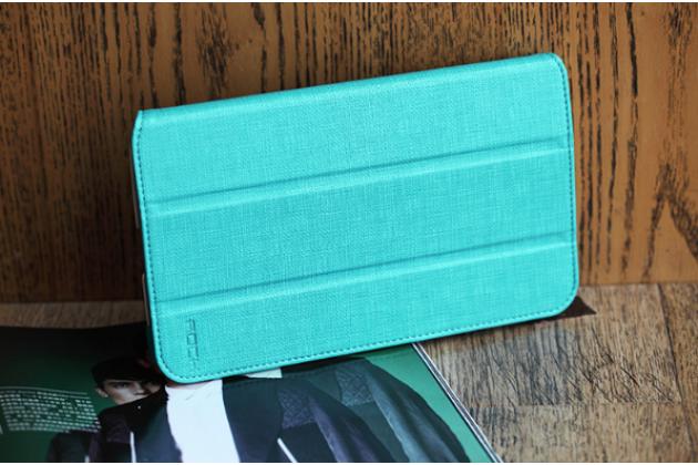 "Фирменный чехол для Samsung Galaxy Tab 3 8.0 T310/T311 SLIM бирюзовый ""Luxury"" натуральная кожа Италия"