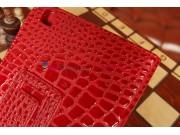 Лаковая блестящая кожа под крокодила чехол для Samsung Galaxy Tab 3 8.0 SM-T310/T311/T315 алый огненный красны..