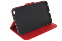 Лаковая блестящая кожа чехол для Samsung Galaxy Tab 3 8.0 SM-T310/T311/T315 алый огненный красный с рисунком