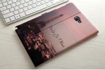 Фирменный уникальный необычный чехол-подставка для Samsung Galaxy Tab A 10.1 2016 SM-P580/P585 S-Pen  тематика Париж