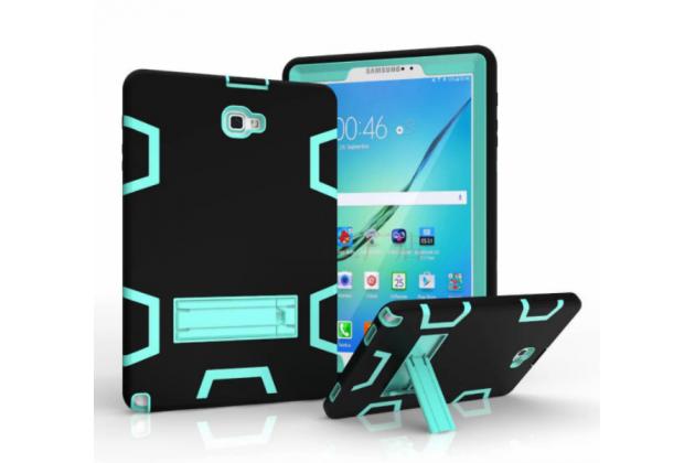 Противоударный усиленный ударопрочный фирменный чехол-бампер-пенал для Чехлы для Samsung Galaxy Tab A 10.1 2016 SM-P580/P585 S-Pen черный