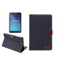 Фирменный чехол-обложка с визитницей и застежкой для Samsung Galaxy Tab E 9.6 SM-T560N/T561N/T565N синий из на..