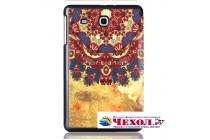 """Фирменный необычный чехол для Samsung Galaxy Tab E 9.6 SM-T560N/T561N/T565N"""" """"тематика Эклектические узоры"""""""