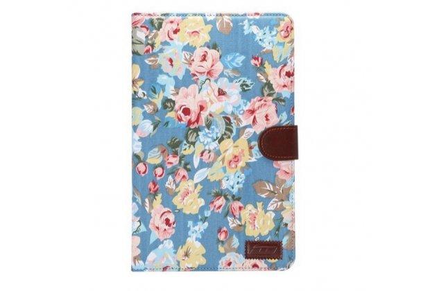 """Фирменный необычный чехол для Samsung Galaxy Tab E 9.6 SM-T560N/T561N/T565N """"тематика Винтажные Розы"""""""