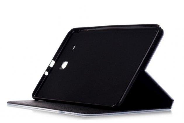 """Уникальный чехол-книжка для Samsung Galaxy Tab E 9.6 SM-T560N/T561N/T565N """"тематика Не трогай мой Чехол"""" черный с глазами"""