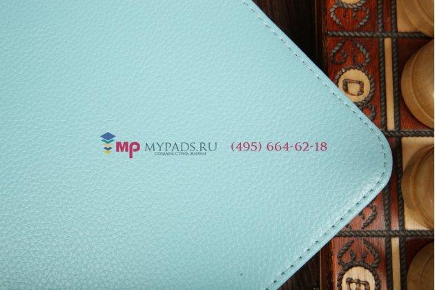 Чехол для Samsung Galaxy Tab 3 10.1 GT-P5200/P5210 поворотный голубой кожаный
