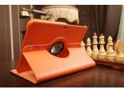 Чехол для Samsung Galaxy Tab 3 10.1 P5200/P5210 поворотный оранжевый кожаный..