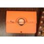 Чехол для Samsung Galaxy Tab 3 10.1 P5200/P5210 поворотный оранжевый кожаный