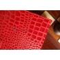 Фирменный чехол для Samsung Galaxy Tab 3 10.1 P5200/P5210/P5220 лаковая кожа крокодила алый огненный красный