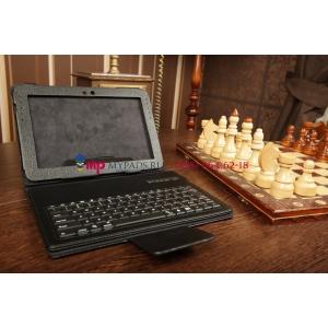 Фирменный оригинальный чехол со съёмной Bluetooth-клавиатурой для Samsung Galaxy Note 10.1 N8000/N8010//N8013/N8020 черный кожаный + гарантия