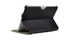 "Чехол-футляр для Samsung Galaxy Note 10.1 N8000 черный кожаный ""Deluxe"""