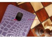 Лаковая блестящая кожа под крокодила xехол-книжка для Samsung Galaxy Note 3 SM-N900/N9005 фиолетовый..